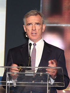 John Larkin told attendees at TMW Systems' user conference that trucking productivity could take a hit. Photo: Jim Beach