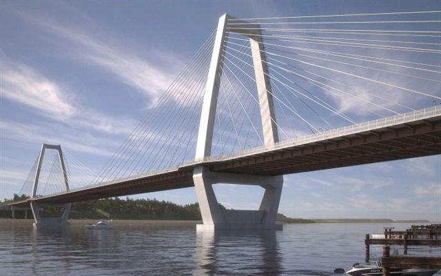 The Lewis and Clark Bridge Photo: Louisville-Southern Indiana Ohio River Bridges Project