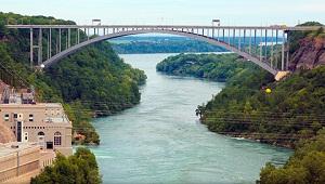 The Lewiston-Queenston Bridge. Photo via Niagara Falls Bridge Commission.