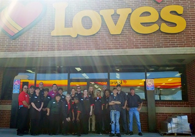 Love's 580 in Muscle Shoals, Ala. Photo via Love's