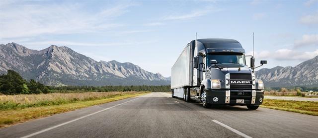 A Mack Anthem on a western highway. Photo:Mack Trucks