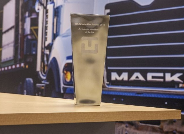 TU-Automotive recently named Mack Trucks its 2015 Commercial Vehicle Maker of the Year. Photo courtesy of Mack Trucks