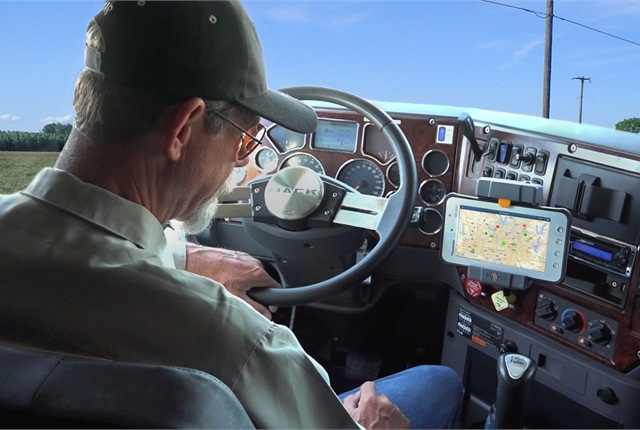 Drivers can get continually updated road condition information through Telogis Navigation.
