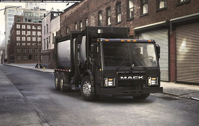Mack has plans to deploy an electric LR model in New York City by 2019. Photo: Mack Trucks