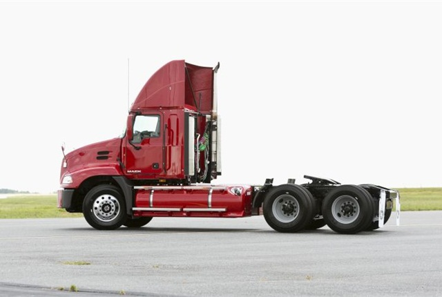 Mack Trucks now offers its Mack Pinnacle with the Eaton UltraShift Plus transmission and Bendix Wingman Advanced collision mitigation technology. Photo courtesy of Mack