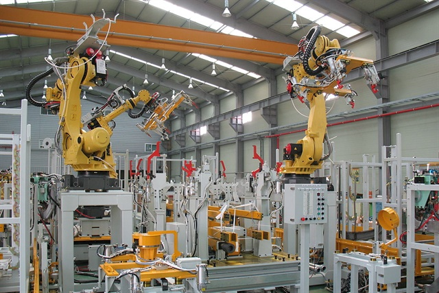 Two indices show manufacturing continues to expand, but analysts raised concerns about new Trump administration tariffs. Photo by Mixabest via Wikimedia Commons