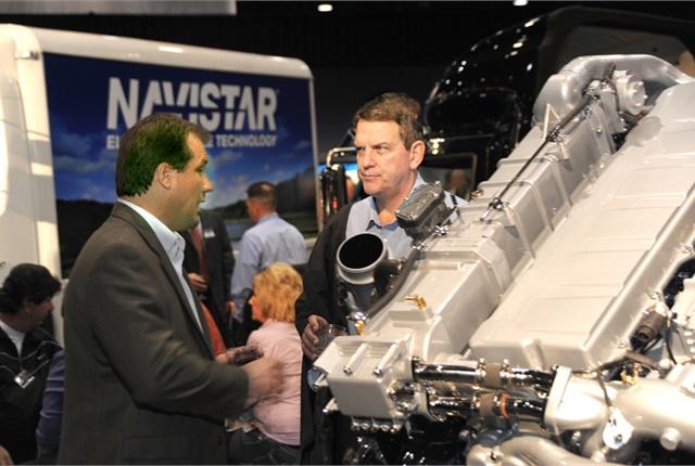 Navistar display at a previous trucking show. (HDT file photo)