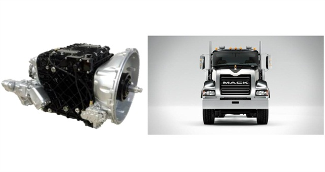 The mDrive HD transmission and Titan Heavy-Haul Truck. Photo courtesy of Mack