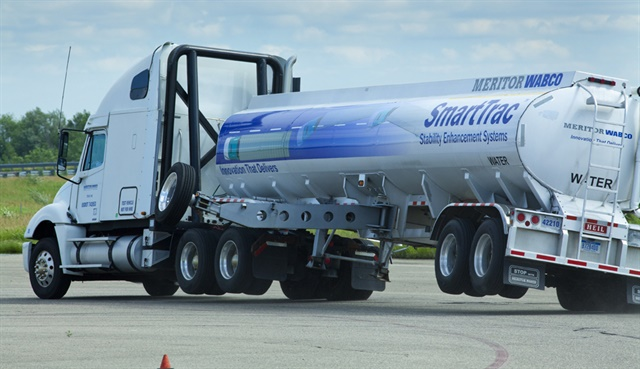Advanced safety systems were one offering of the Meritor Wabco joint venture. Photo: Meritor Wabco