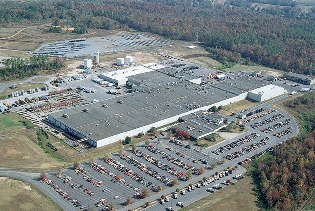 Daimler's Mt. Holly, N.C. truck manufacturing plant Photo via Daimler