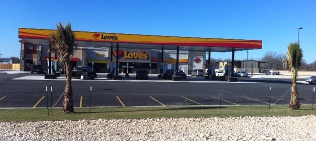 Love's new location in Natalia, Texas, was built from the ground up.