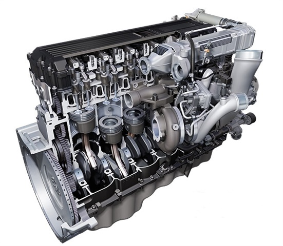 International's A26 12.4-liter diesel is being shipped in new LT and RH trucks.