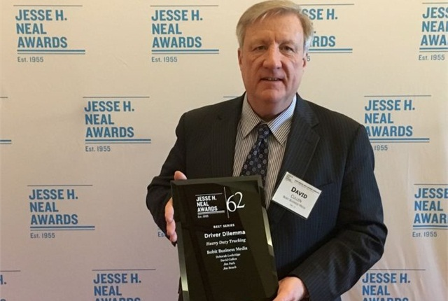 Executive Editor David Cullen was on hand to receive the Neal Award for the Driver Dilemma series of articles on the driver shortage. Photo: David Cullen