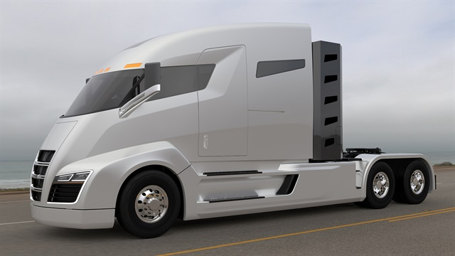 Nikola One's components sit low on the frame and at the wheels for excellent stability, the company says. Composite body panels offer strength and are light in weight. Image: Nikola Motor Co.