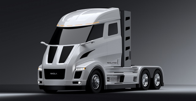 Nikola anticipates offering its fully electric Nikola Two day-cab truck (pictured) for sale in the U.S. by 2021. Photo: Nikola