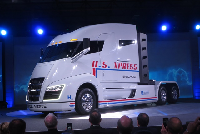 During the Nikola One unveiling last week, Trevor Milton, Nikola Motor's founder and CEO, announced that Thompson Machinery would be a distributor for the hydrogen-electric tractor. Photo: Tom Berg