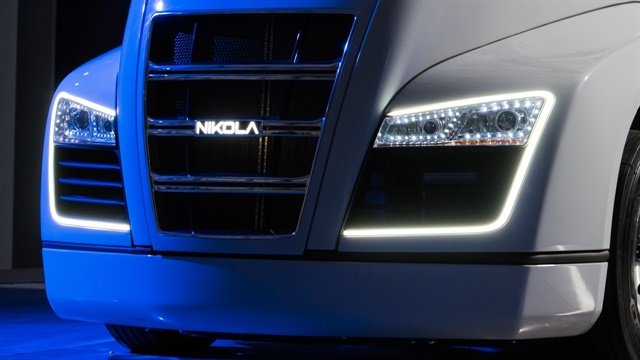 Partial view of the all-electric Class 8 Nikola One tractor, which will be rolled out on the evening of Dec. 1 in Salt Lake City. Photo: Nikola Motors