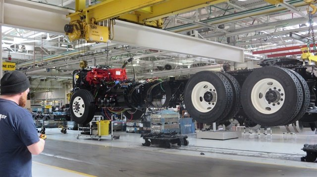 Truck on the line at Volvo's New River Valley plant. File Photo: Deborah Lockridge.