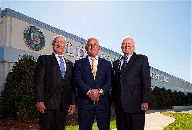 Greg Gantt (center) has been named CEO of Old Dominion Freight Line, succeeding David Congdon (left)  who will replace Earl Congdon (right) as the executive chairman of the board. Photo: ODFL
