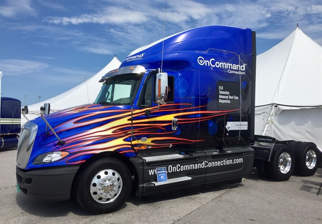 Navistar announced availability of its OnCommand Connection Telematics solution at the Walcott Truckers Jamboree. Photo: Navistar