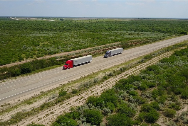 Roger Nielsen said at the NACV Show that Detroit Assurance Safety Systems are the enabling platform for the company's current platooning tests in Oregon and Nevada. Photo: Daimler Trucks North America