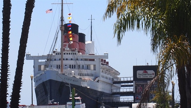 The Queen Mary was not far from the event, now permanently parked in Long Beach, Calif.