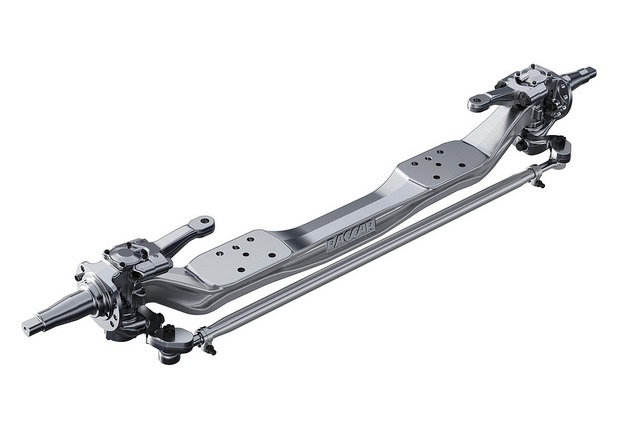 The Paccar front axle comes in wide track configurations rated at 20,000 pounds and 22,800 pounds. Photo: Paccar