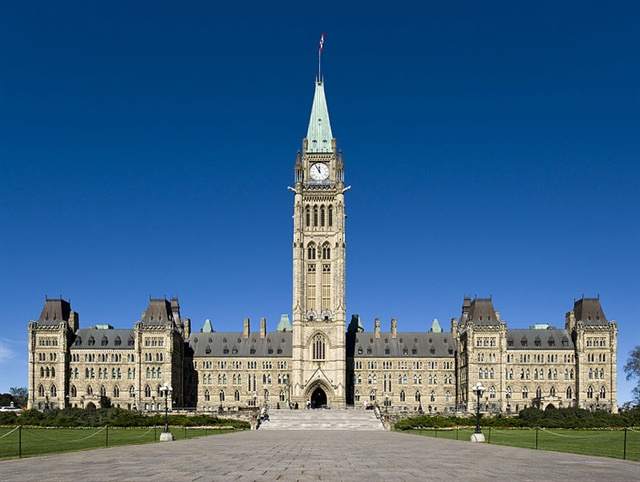 Parliament Hill, Ottawa, Canada. Photo via Wikimedia Commons