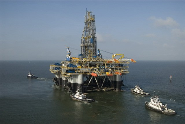 Shell's Perdido platform in the Gulf of Mexico,  the world's deepest offshore oil drilling and production platform.