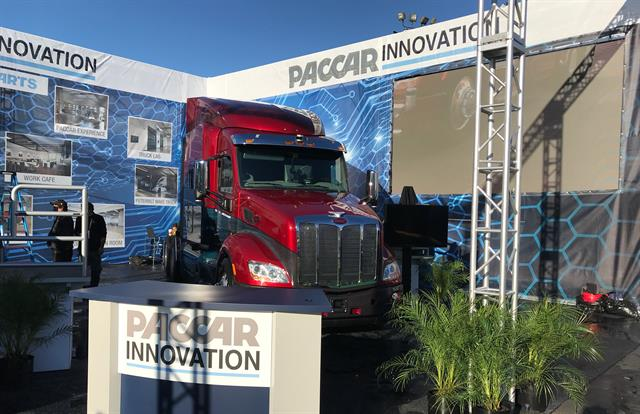 Paccar exhibited for the first time at the CES consumer electronics show in early 2018. Photo: Peterbilt