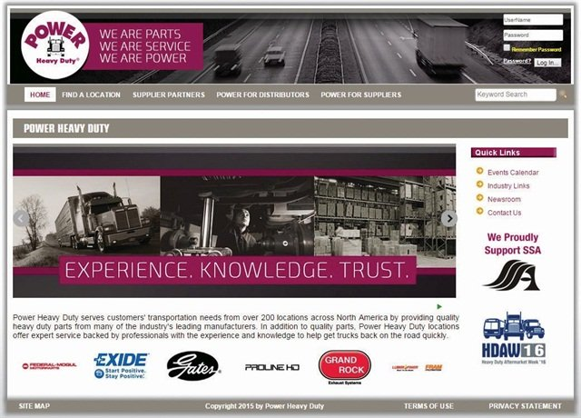 Power Heavy Duty's new website.