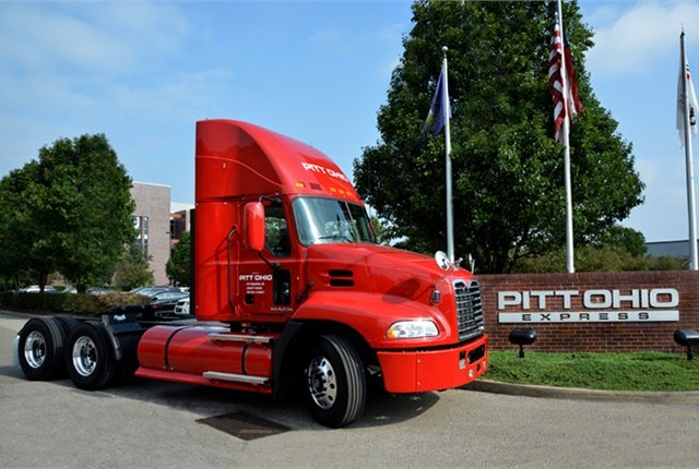 The expanded use of CNG-powered trucks has helped Pitt Ohio reduce both its carbon footprint and fuel costs. Photo: Mack Trucks