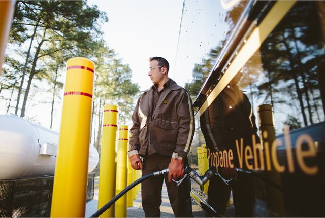UPS invested $70 million in 1,000 propane delivery trucks.