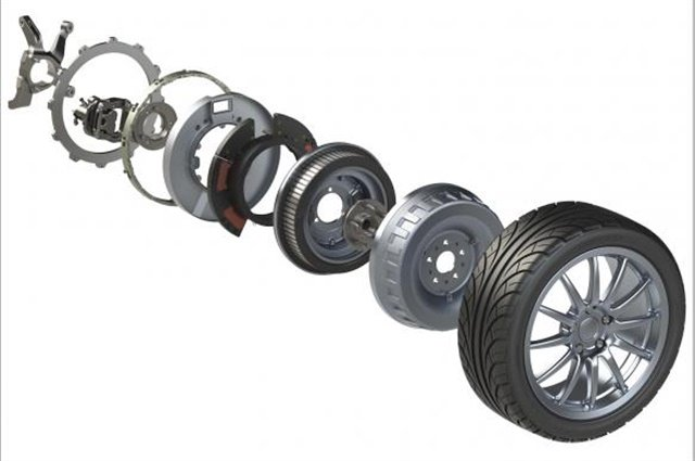 Protean's in-wheel electric drive solution. Photo: Protean Electric