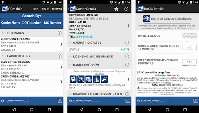 The QC mobile app for Android. via Google Play