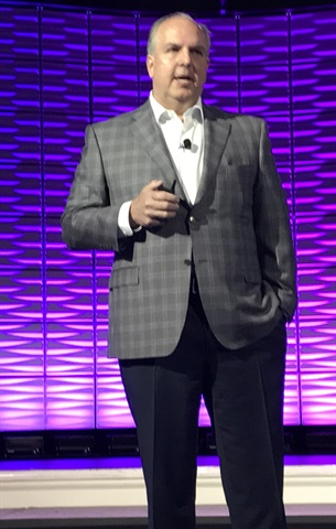 Omnitracs CEO Ray Greer, speaking in Nashville. Photo: Jim Beach