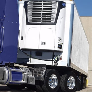 "Refrigerated trailer orders were ""spectacular"" in October, says FTR. File photo courtesy Carrier Transicold."