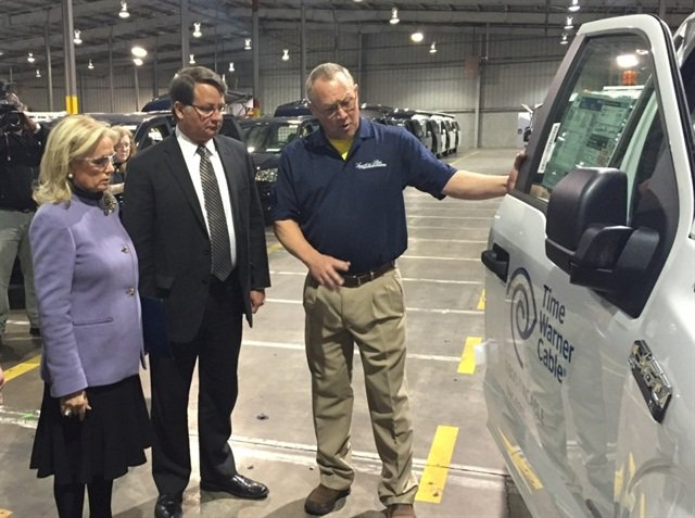Rep. Debbie Dingell and Sen. Gary Peters touring Leggett and Platt Commercial Vehicle Products plant in Taylor, Mich. Photo: debbiedingell.house.gov