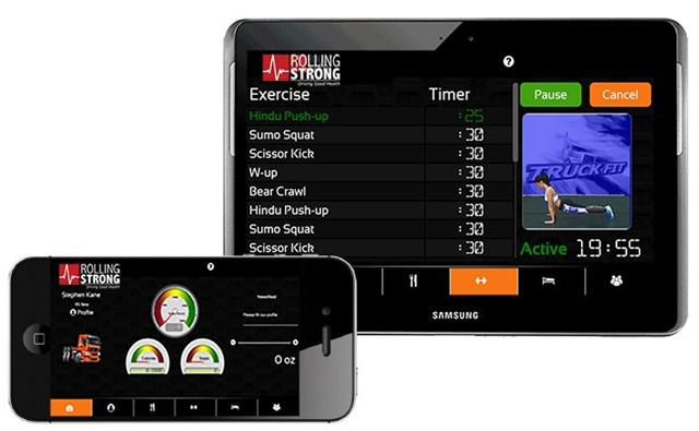 Rolling Strong has unveiled a new mobile platform aimed at helping drivers to stay healthy. Photo: Rolling Strong