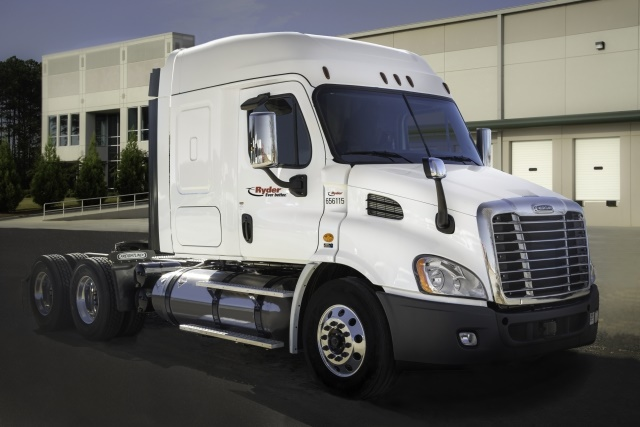 Ryder operates a fleet of liquified natural gas (LNG) heavy-duty trucks and has now partnered with Clean Energy. (Image courtesy of Business Wire)