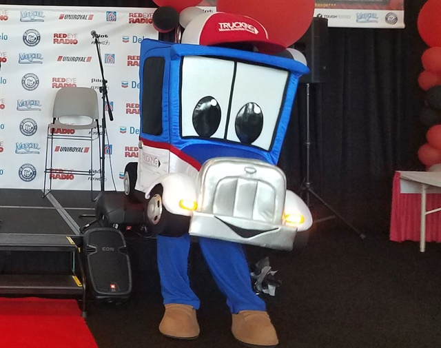 Trucking Moves America officially named its new mascot Safety Sammy after fierce competition from over 2,000 other possible entries. Photo: TMAF