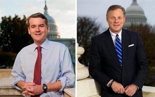 Sens. Michael Bennet D-Colo. (left) and Richard Burr R-N.C.Offical Senate photos