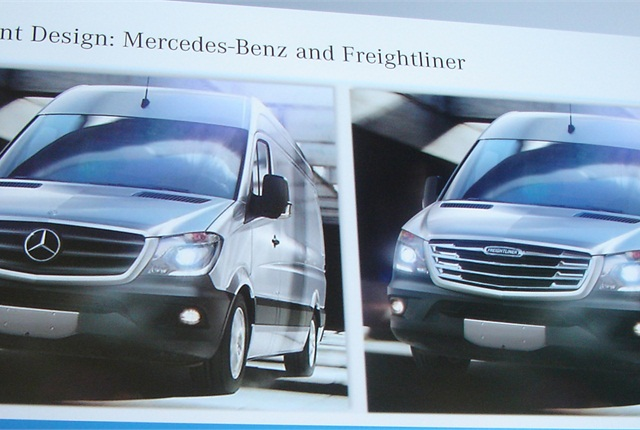 Mercedes and Freightliner Sprinters each get different grille designs.