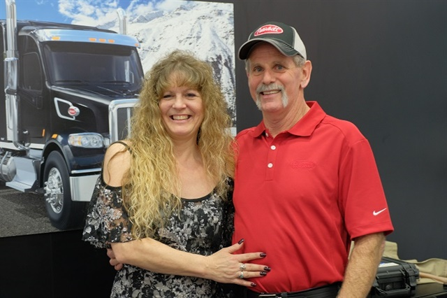 Peterbilt SuperFan Rick McClerkin with his fianceé Kathy Cantaloube. Photo: Jim Park