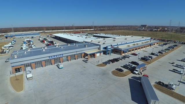 Tag's new 190,000-square-foot Freightliner dealership in Memphis, Tennesee, features a new and used truck sales center, a parts and service center, a parts distribution center, a full body shop, and the Tag Technical Institute. Photo: Daimler