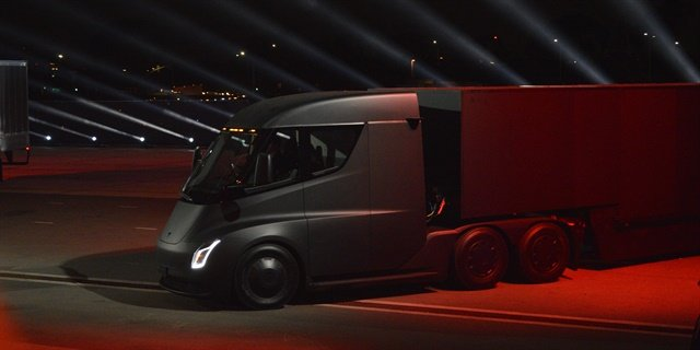 Anhesuer-Busch has ordered 40 Tesla Semi trucks as part of its ongoing sustainable transportion strategy. Photo: Jack Roberts