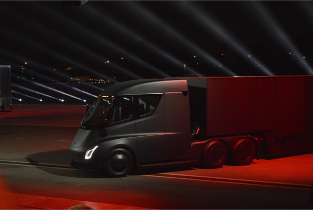 According to a Reuters report, Tesla is working with several leading North American fleets to install a network of electric truck charging stations. Photo: Jack Roberts