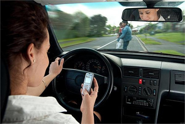 The number of people who believe that texting or emailing while driving is a very serious threat declined from 87% in 2009 to 81% in 2012.