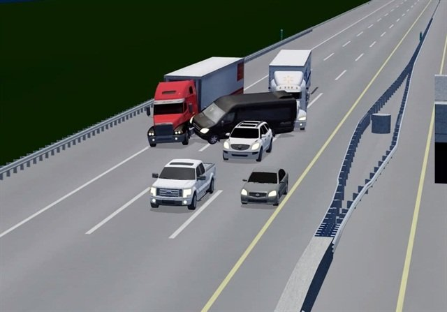 An NTSB investigation found that driver fatigue played a role in the fatal accident. Image via NTSB