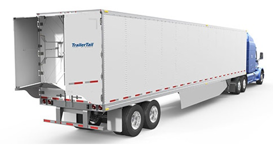 Stemco's new TrailerTail Automatic opens and closes automatically to improve driver convenience while eliminating damage risk and ensuring fuel efficiency. Photo: Stemco